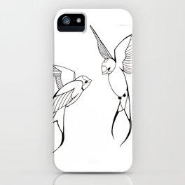 Lovebirds-Swallows iPhone Case