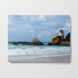 Biarritz Surfers Metal Print