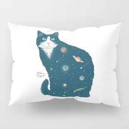 Cosmic Cat illustration Pillow Sham