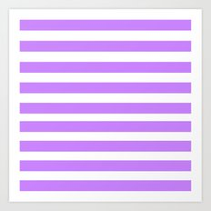 Purple Lines Art Print