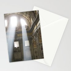 Sun rays in the Vatican, Italy Stationery Cards