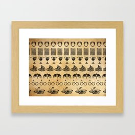 The Horcruxes from Potter Framed Art Print