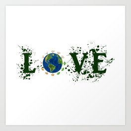 Earth Day Love Mother Earth Art Print