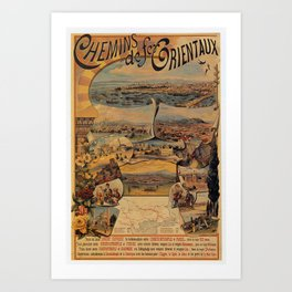 Oriental railways to Constantinople Art Print