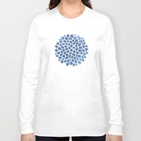 indigo Long Sleeve T-shirts featuring Indigo by Color and Form