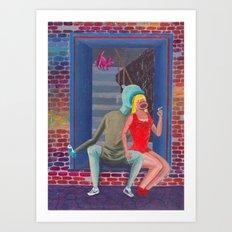 girl from the neighborhood Art Print