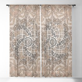 Terra Mandala Sheer Curtain