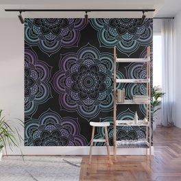 Mandalas Pattern (Black) Wall Mural