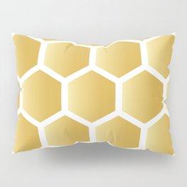 Honeycomb pattern - gold Pillow Sham