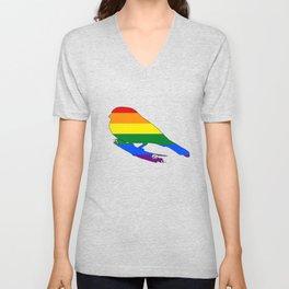 Rainbow Finch Unisex V-Neck