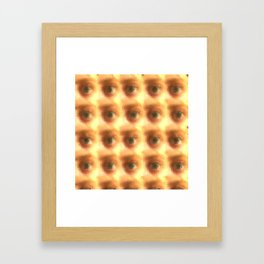 Creepy cartoon eyes pattern Framed Art Print