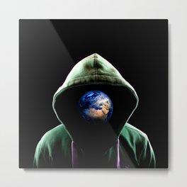 Global Head Metal Print