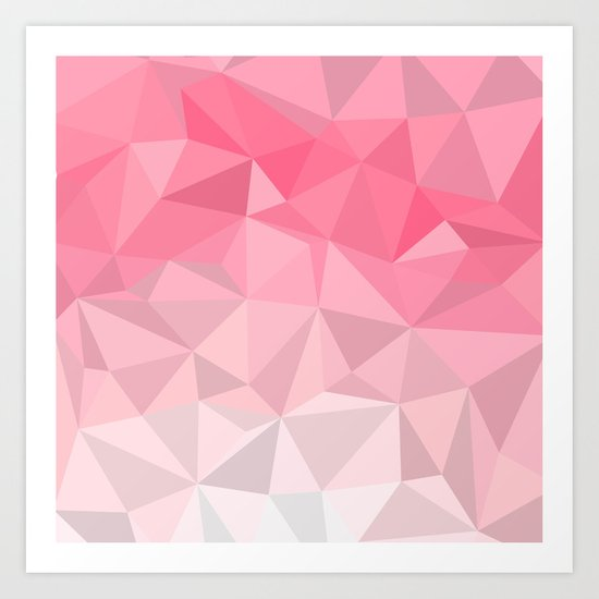 Pink Polygon Art Print