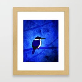 Ultramarine Kingfisher (Todiramphus leucopygius) Framed Art Print