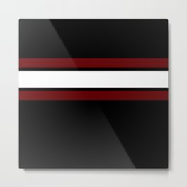 Team Colors...Maroon and white stripeswith black Metal Print