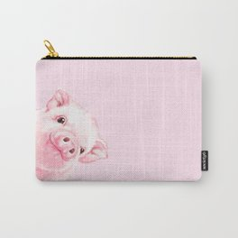 Sneaky Baby Pink Pig Carry-All Pouch