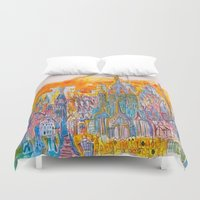 barcelona Duvet Covers featuring Barcelona by Graham Elvis