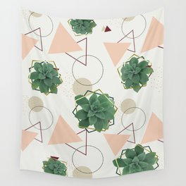Lovely Succulents Wall Tapestry