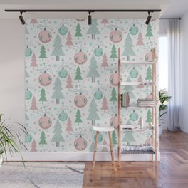 Christmas white pattern Wall Mural