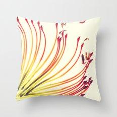 Pincushion Botanical Print Throw Pillow