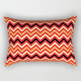 Fire Chevron Rectangular Pillow