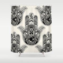 Hamsa Hand Schnauzer Shower Curtain