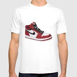 Nike Air Force 1 - Retro - Red & Black & White T-shirt