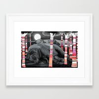 dreams Framed Art Prints featuring Sweet Dreams Ursus Arctus  by Sandra Dieckmann