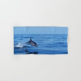 Spotted dolphin jumping in the Atlantic ocean Hand & Bath Towel