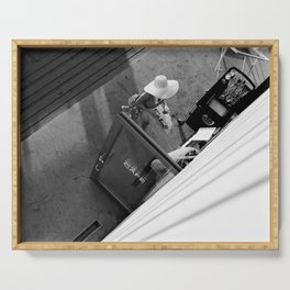 Coffee time - Black and white photography Serving Tray