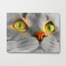 Big gray cat Metal Print