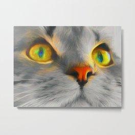 Big gray cat Metal Print