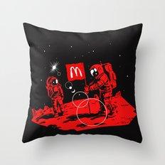 First we take Manhattan, Then we take Mars Throw Pillow