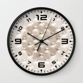 Opulent Tufted 3 Wall Clock