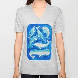 Whale & Friends Unisex V-Neck