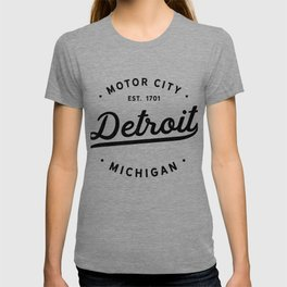 Detroit Michigan Motor City Classic Vintage Retro Est 1701 T-shirt