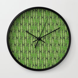 Hello Fern - Blue Green Colorway Wall Clock