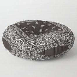 Paisley - Bandana - Black -  Southwestern Floor Pillow