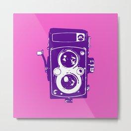 Big Vintage Camera - Purple / Pink Metal Print