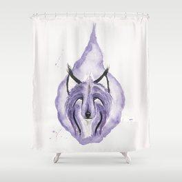 Hitodama the Spirit Wolf. Shower Curtain