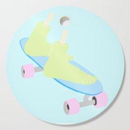 skateboarding til death Cutting Board