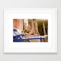 bikini Framed Art Prints featuring Bikini by Retro Nude