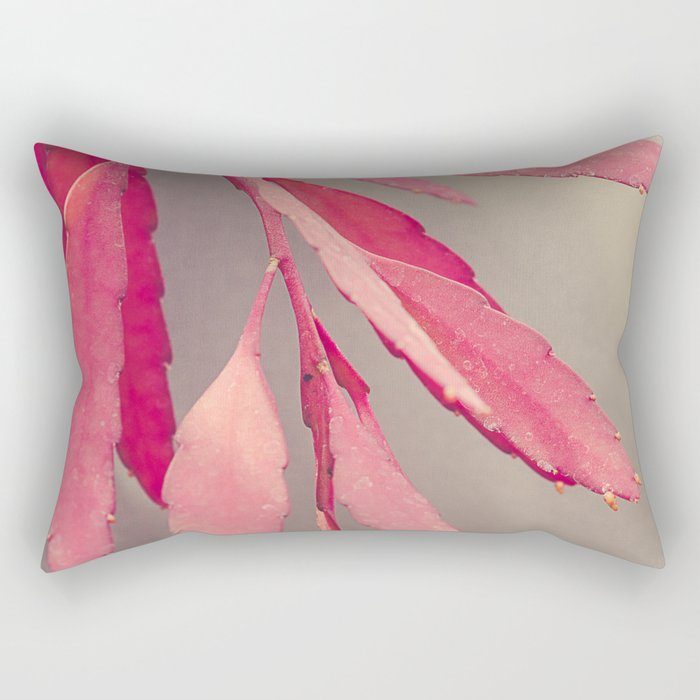 Red Cactus Rectangular Pillow