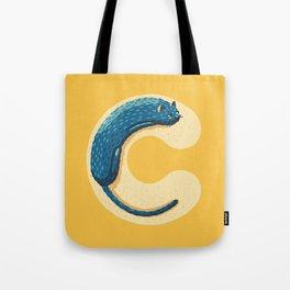 C for Cat Tote Bag