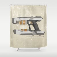 star lord Shower Curtains featuring STAR LORD - PETER QUILL by LindseyCowley