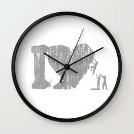 I Love Bouldering (white) Wall Clock