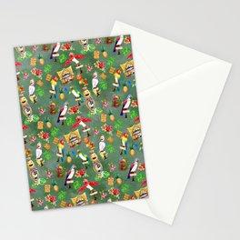 Orange Bird & Tiki Friends Stationery Cards