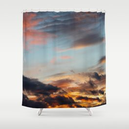 Dreamy Fiery Clouds Shower Curtain