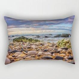 Low pebbles, smooth tide Rectangular Pillow