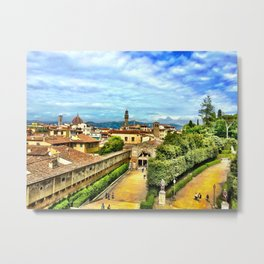 Florence from Boboli Gardens at Pitti Palace Metal Print